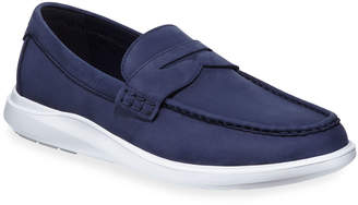Cole Haan Essex Grand Plus Suede Wedge Penny Loafer