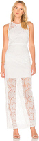 Diane von Furstenberg Paneled Overlay Gown in White. - size 0 (also in 2,4,6)