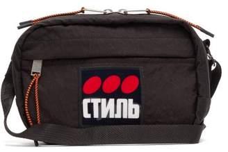 Heron Preston Applique Cross Body Bag - Mens - Black