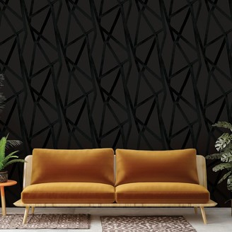 west elm Tempaper Intersections Removable Wallpaper