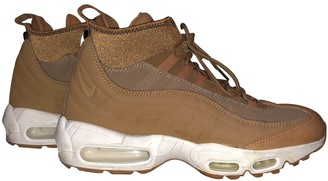 Nike 95 Camel Leather Trainers