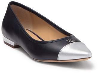 Ralph Lauren Halena Cap Toe Leather Flat