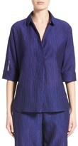Armani Collezioni Women's Crinkle Cotton & Silk Blend Tunic
