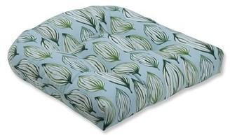 Tropical Leaf Wicker Seat Cushion Bay Isle Home