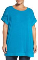 Sejour Chiffon Trim Tunic (Plus Size)