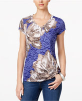 INC International Concepts Floral-Print T-Shirt, Only at Macy's
