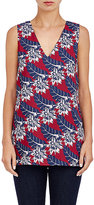 Thakoon WOMEN'S FLORAL STRETCH-CREPE TOP-RED SIZE 4