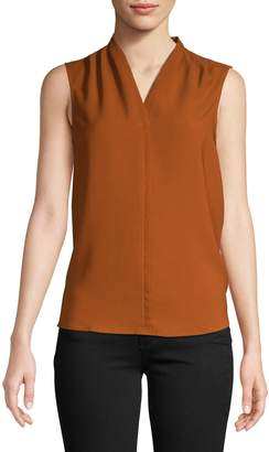 Lord & Taylor Sleeveless Pleated Top