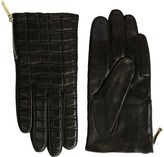 Kate Spade Bow Quilted Gloves with Side Zipper