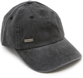 Steve Madden Black Stone-Washed Baseball Cap
