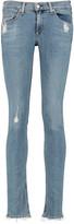 Rag & Bone Distressed mid-rise skinny jeans