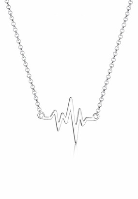 Elli Women Necklace 925 Sterling Silver Heartbeat Length 45cm 0105421016