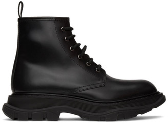 Alexander McQueen Black Beauty Lace-Up Boots