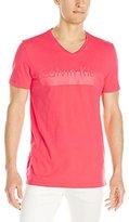 Calvin Klein Men's Short Sleeve Lamination Logo V-Neck T-Shirt