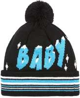 Topman Black, Blue And White Ice Ice Baby Bobble Beanie Hat
