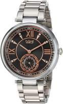 Burgi Women's Quartz Stainless Steel Casual Watch, Color:Silver-Toned (Model: BUR175SSB)