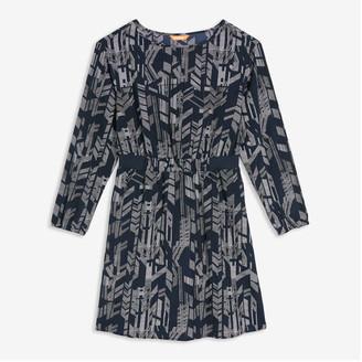 Joe Fresh Women's Elastic Waist Dress, Navy (Size L)