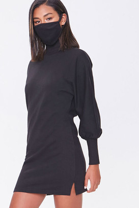 Forever 21 Mock Neck Dress Face Mask Set