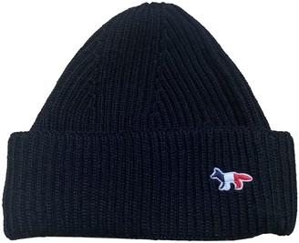 MAISON KITSUNÉ Blue Wool Hats