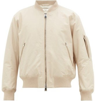 Bottega Veneta Arm-handle Cotton-blend Twill Bomber Jacket - Beige