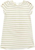 Kardashian Kids Metallic Yarn Dye Stripe Dress