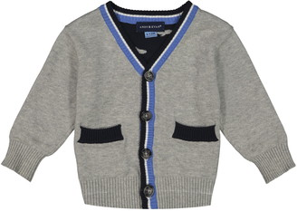 Andy & Evan Shark Intarsia Cotton Cardigan
