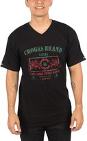Crooks & Castles Mens Ganja V-Neck Shirt in Black, X-Large, Black