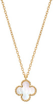 Van Cleef and Arpels 18K Gold Sweet Alhambra Mother of Pearl Necklace