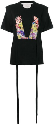 Stella McCartney floral bodice patch T-shirt