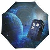 Doctor Who Custom Auto Foldable Rain Umbrella Wind Resistant Windproof Floding Travel Umbrella