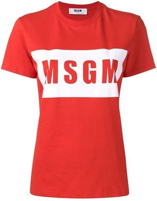 MSGM logo print T-shirt
