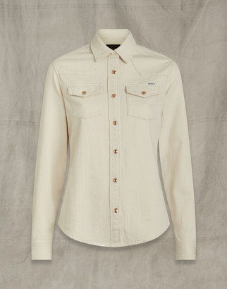 Belstaff WESTERN DENIM SHIRT White UK 4 /