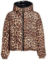 Alice + Olivia Durham Leopard Print Puffer Jacket