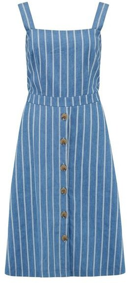 Sugarhill Boutique Rosa Chambray Stripe Sundress Blue - 16