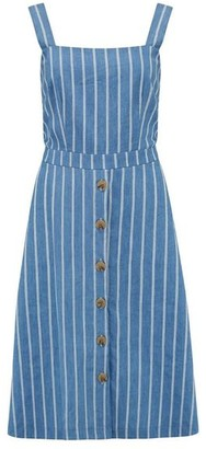 Sugarhill Boutique Rosa Chambray Stripe Sundress Blue - 16