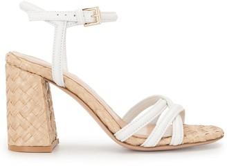 Gianvito Rossi Braided Raffia Heeled Sandals