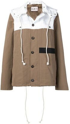 Plan C Two-Tone Hooded Jacket