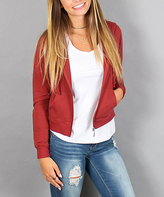 Ambiance Rust French Terry Hooded Jacket