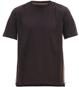 Paul Smith Artist-striped Organic-cotton T-shirt - Mens - Black
