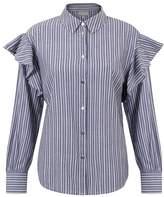 Oliver Bonas Dobby Stripe Frill Shirt