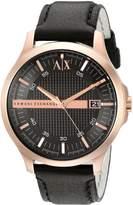 A|X Armani Exchange Armani Exchange Men's AX2129 Analog Display Analog Quartz Black Watch