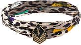 Saint Laurent military patch choker necklace