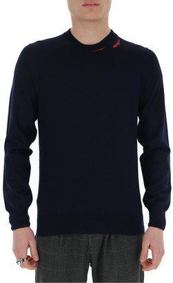 Alexander McQueen Logo Patch Knitted Sweater