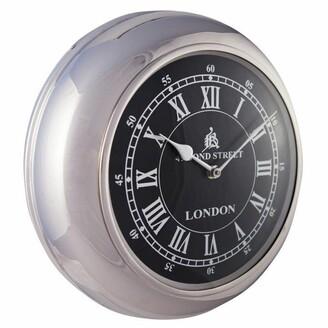 J & K Europe Imports Retro Wall Clock Medium Black
