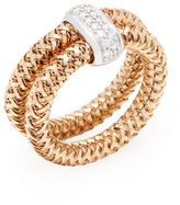 Roberto Coin Primavera 18K Rose Gold & 0.14 Total Ct. Diamond Double Band Ring