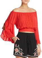 Band of Gypsies Off-the-Shoulder Lace-Inset Top