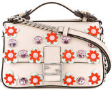 Fendi embellished micro Double Baguette cross body bag - women - Calf Leather - One Size