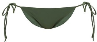 JADE SWIM Ties Side-tie Bikini Briefs - Womens - Dark Green