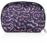 Le Sport Sac Half Moon Floral-Print Nylon Cosmetic Case