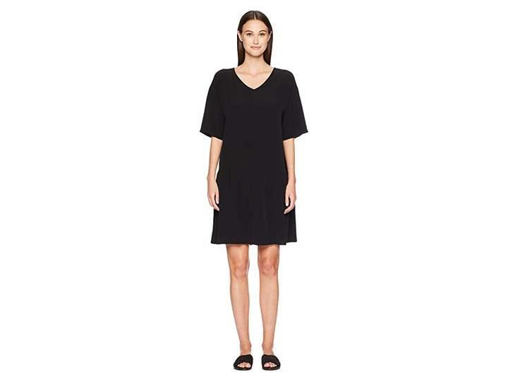 Eileen Fisher V-Neck Short Dress